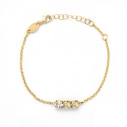 Pulsera círculos light silk de Celine en oro