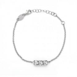 Pulsera círculos crystal de Celine en plata