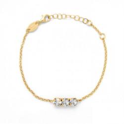 Pulsera círculos crystal de Celine en oro