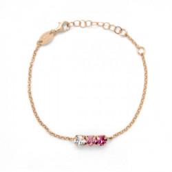 Pulsera círculos rose de Celine en oro rosa