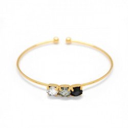 Silver Cuff bracelet Aura circles