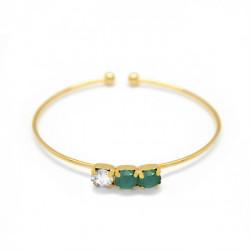 Gold Cuff bracelet Aura circles