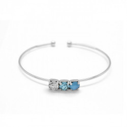 Silver Bracelet of Bracelet of cane Aura circles