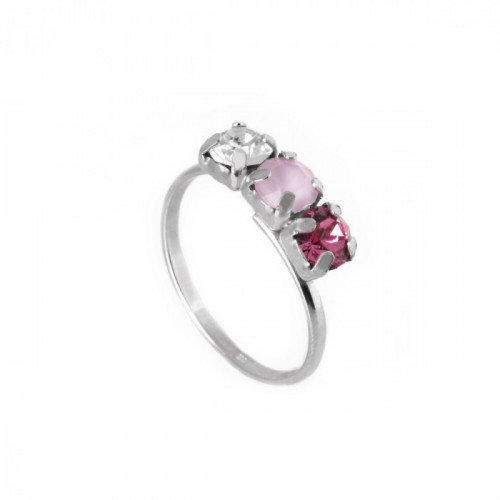 Anillo Céline Powder Rose - Plata