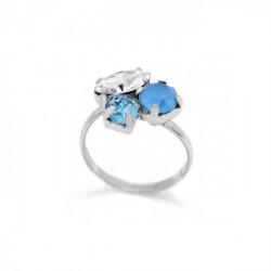 Anillo summer blue de Celine en plata