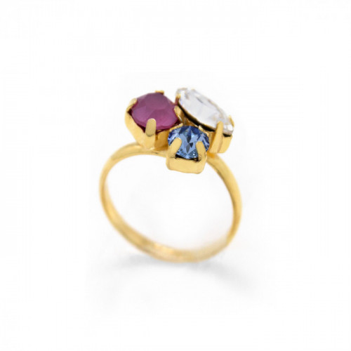 Gold Ring Celine X3