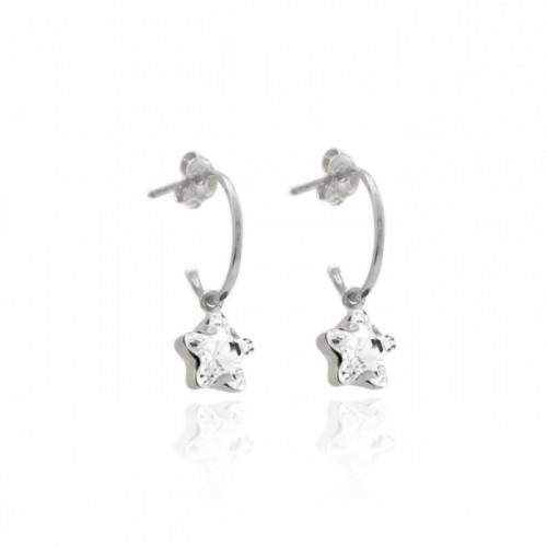 Silver Earrings Celine Earrings of ring Star