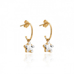 Pink Gold Earrings Celine Earrings of ring Star