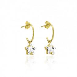 Gold Earrings Celine Earrings of ring Star