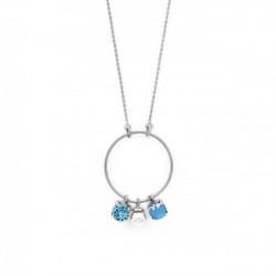 Collar redondo perla summer blue de Celine en plata
