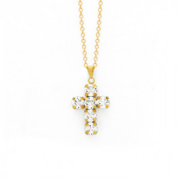 Gold Necklace Minimal Cruz