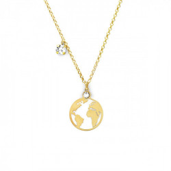 Gold Necklace small world