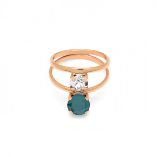 Pink Gold Ring Celine double