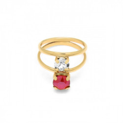 Gold Ring Celine double
