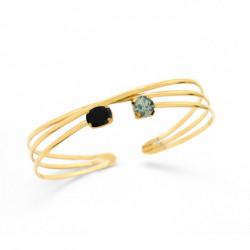 Gold Bracelet of Bracelet of cane crossed
