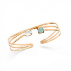 Gold Cuff bracelet crossed