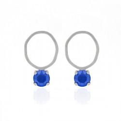 Silver Earrings Celine round
