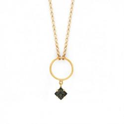 Gold Necklace Hoop