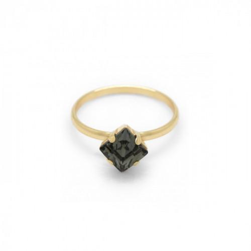 Gold Ring Celine Cube