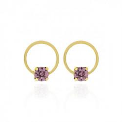 Gold Earrings Hoop Basic