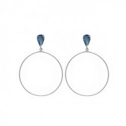 Silver Earrings Hoop XL