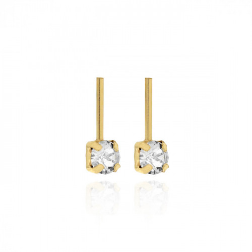 Gold Earrings Minimal small bar