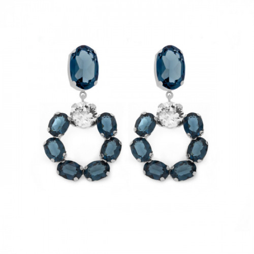 Pendientes Poetic Denim Blue - Plata