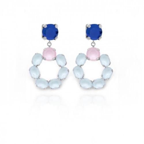 Silver Earrings Poetic Powder Blue