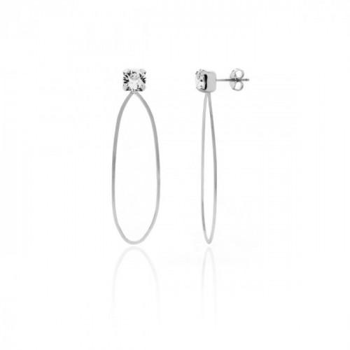 Silver Earrings Arty