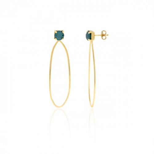 Gold Earrings Arty