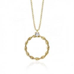Gold Necklace Mayela Crystal