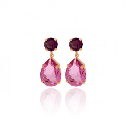 Pink Gold Earrings Majestic