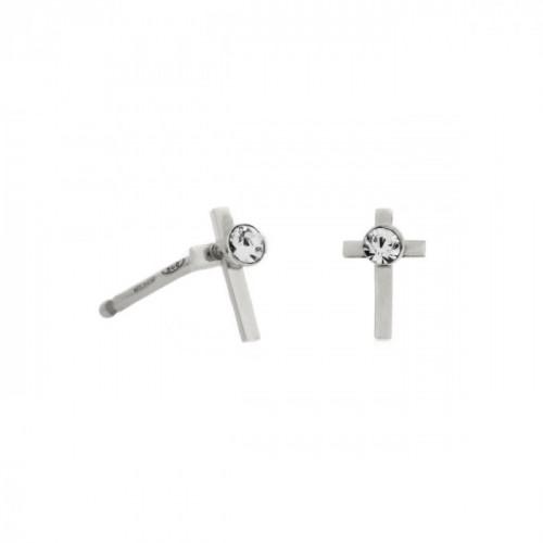 Silver Earrings Teen cross