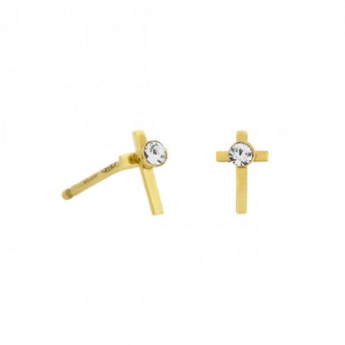 Gold Earrings Teen cross