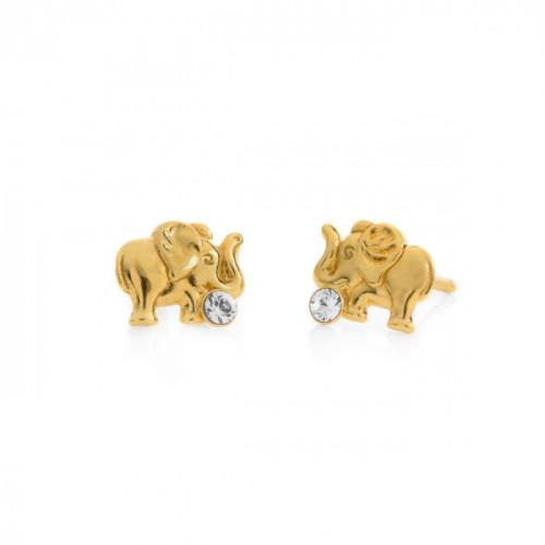 Gold Earrings Teen elephant