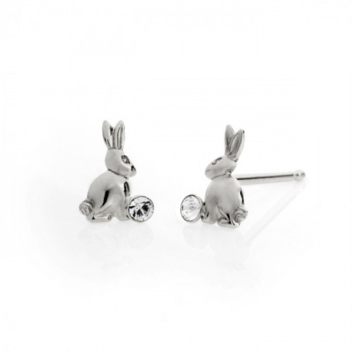 Silver Earrings Teen rabbit
