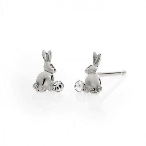 Silver Earrings Teen rabbit