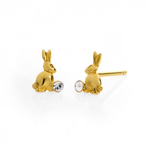 Gold Earrings Teen rabbit