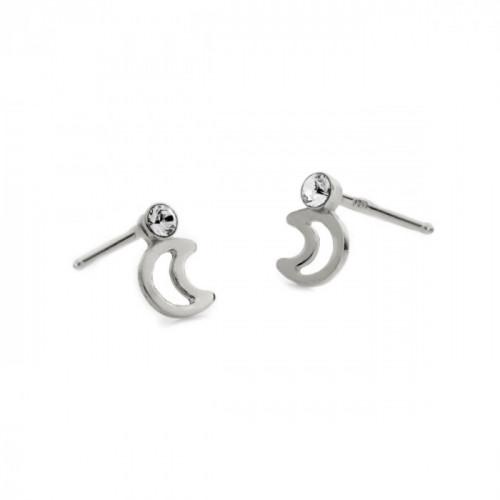 Silver Earrings Teen moon