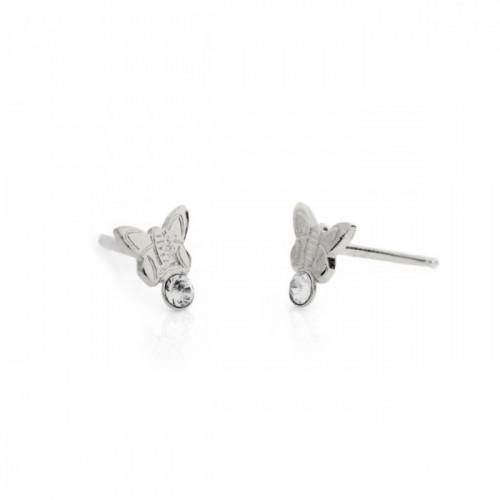 Silver Earrings Teen butterfly