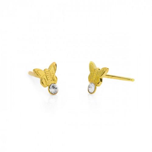 Gold Earrings Teen butterfly