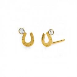 Gold Earrings Teen horseshoe