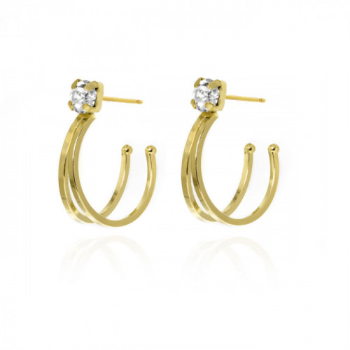 Gold Earrings Maia double