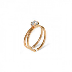 Pink Gold Double ring Maia