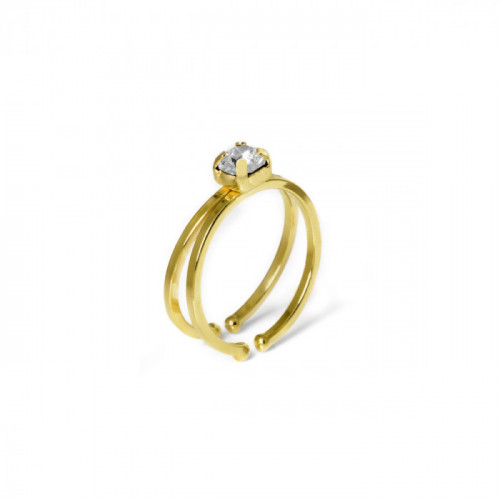 Gold Double ring Maia