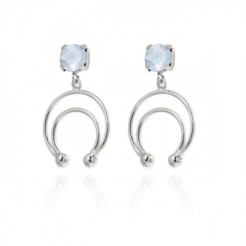 Silver Earrings Selene half moon