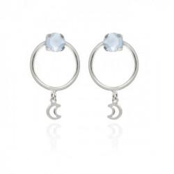 Silver Hoop earrings Selene