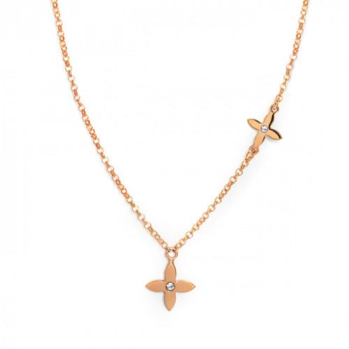 Pink Gold Necklace Vega pink