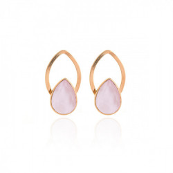 Pink Gold Earrings Carmen