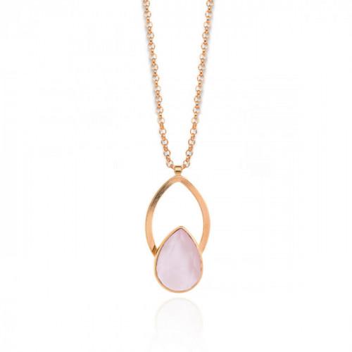 Pink Gold Necklace Carmen pink